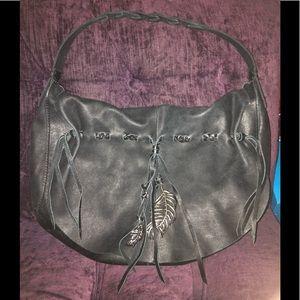 🖤 Lucky Brand Black Hollywood & Vine Flap Bag